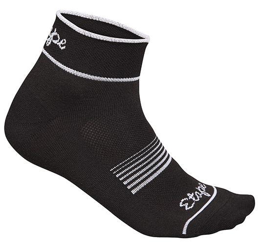 Etape - dámské ponožky KISS, černá/bílá