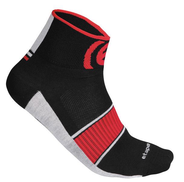 Etape - ponožky SOX, černá/červená